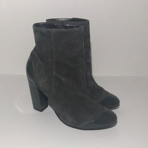 Nine West Fruttat Suede Ankle Booties Heels